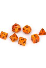 Chessex Chessex: Poly 7 Set - Vortex - Orange w/ Black