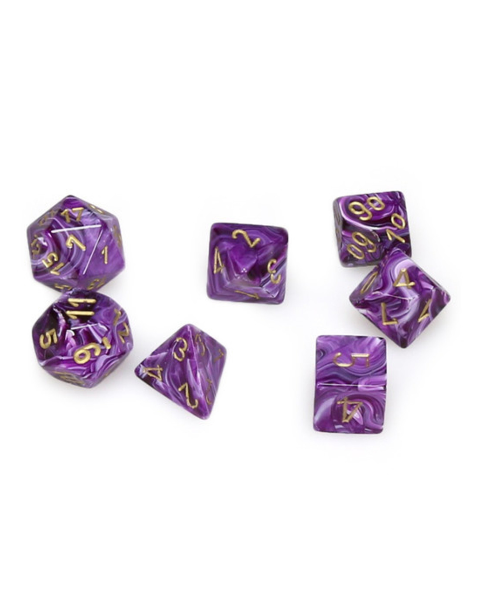 Chessex Chessex: Poly 7 Set - Vortex - Purple w/ Gold