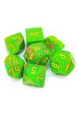 Chessex Chessex: Poly 7 Set - Vortex - Slime w/ Yellow