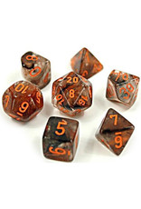 Chessex Chessex: Poly 7 Set - Nebula - Copper Matrix w/ Orange