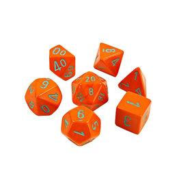 Chessex Chessex: Poly 7 Set - Heavy - Orange w/ Turquoise