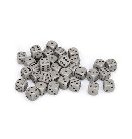 Chessex Chessex: 12mm D6 - Opaque - Grey w/ Black