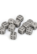 Chessex Chessex: 16mm D6 - Opaque - Grey w/ White