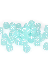 Chessex Chessex: 12mm D6 - Frosted - Teal w/ White