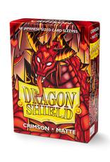 Dragon Shield Dragon Shield: Sleeves - Mini - Matte Crimson (60)