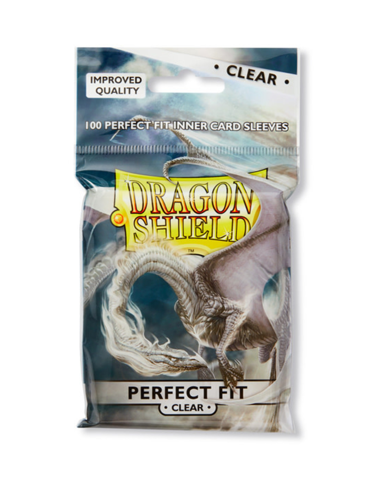 Dragon Shield Dragon Shield: Sleeves - Standard - Perfect Fit - Clear (100)