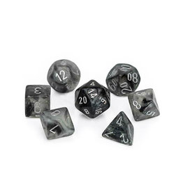 Chessex Chessex: Poly 7 Set - Borealis - Light Smoke w/ Silver
