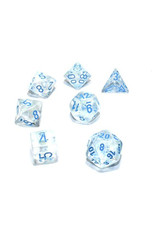 Chessex Chessex: Poly 7 Set - Borealis - Icicle w/ Light Blue