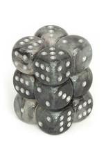 Chessex Chessex: 16mm D6 - Borealis - Light Smoke w/ Silver