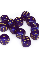 Chessex Chessex: 16mm D6 - Borealis - Royal Purple w/ Gold