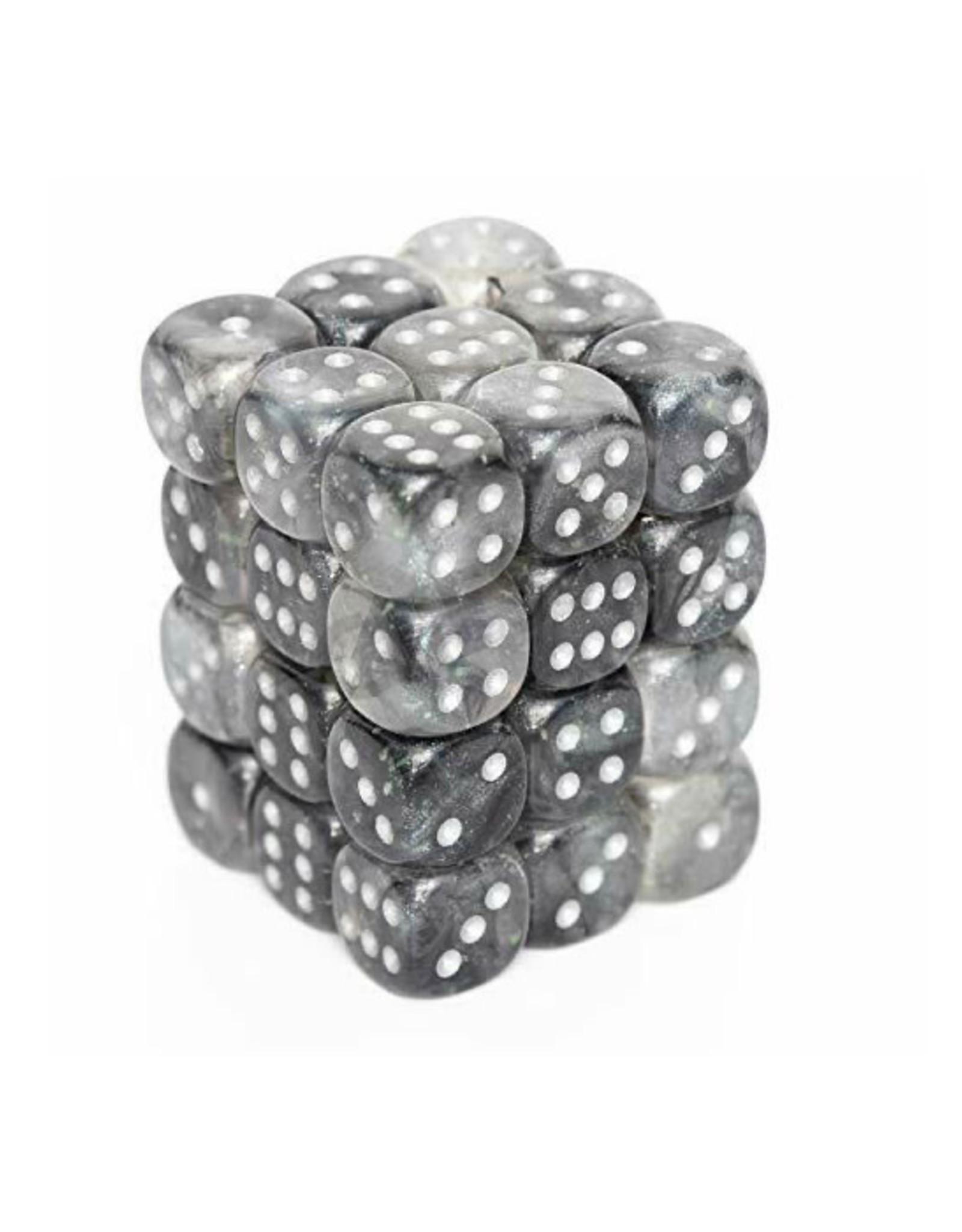 Chessex Chessex: 12mm D6 - Borealis - Light Smoke w/ Silver