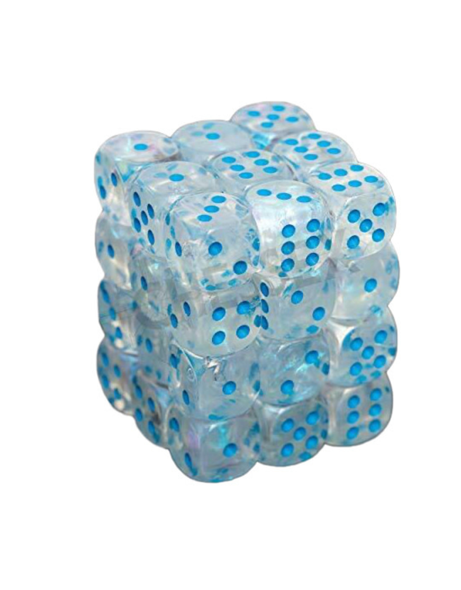 Chessex Chessex: 12mm D6 - Borealis - Icicle w/ Light Blue