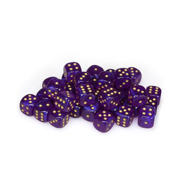 Chessex Chessex: 12mm D6 - Borealis - Royal Purple w/ Gold