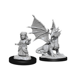 Dungeons & Dragons Dungeons & Dragons: Nolzur's - Silver Dragon Wyrmling & Halfling Female