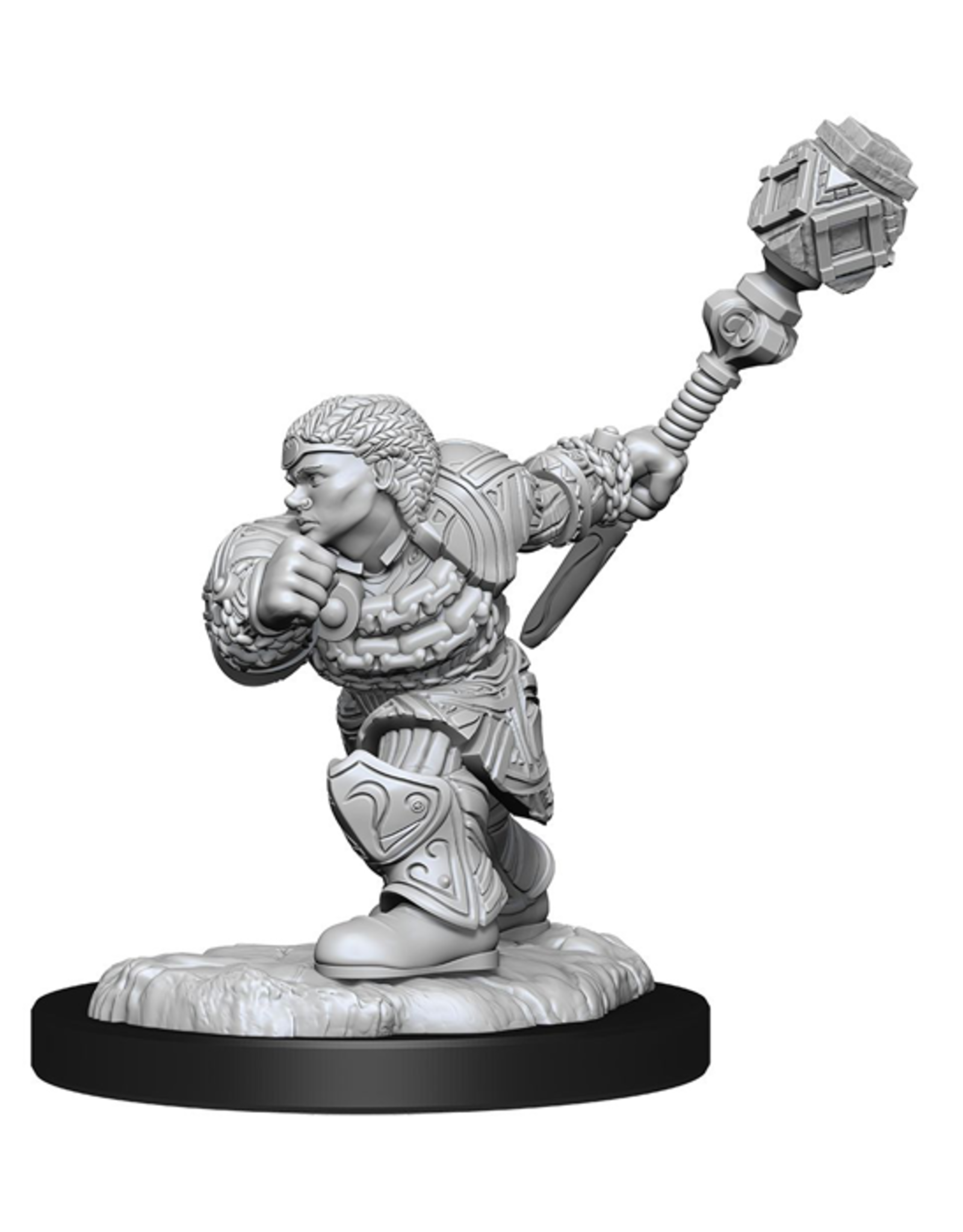WizKids Magic: The Gathering - Unpainted Miniatures - Dwarf Fighter & Dwarf Cleric
