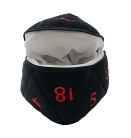 Ultra Pro Ultra Pro: Dice Bag - D20 - Black & Red