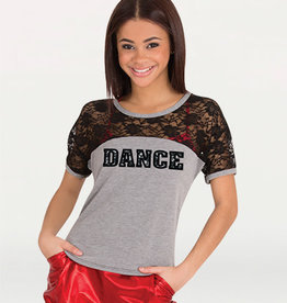 Body Wrappers / Angelo Luzio T-SHIRT DANCE DENTELLE AD
