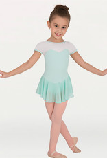 Body Wrappers / Angelo Luzio MAILLOT MANCHES COURTES FILET BLANC JR