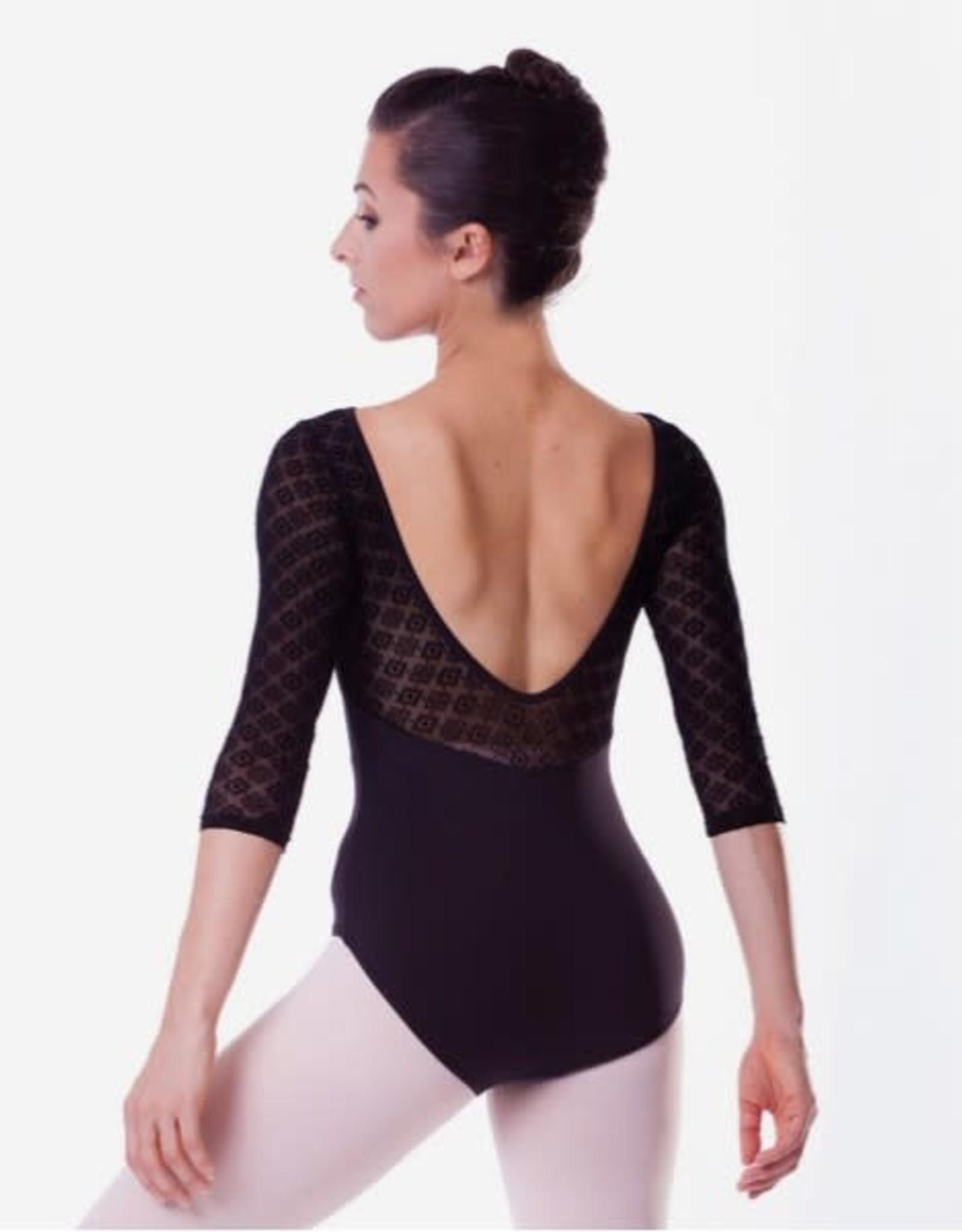 Radadancewear Sansha MAILLOT MANCHES 3/4 DENTELLE TANEY AD