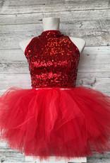 Costume Camisole Paillette Rouge (S AD)