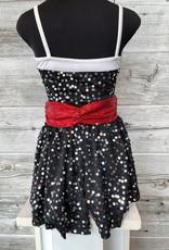 Costume Noir et Blanc Paillette Avec Jupette (IC  6x-7)
