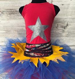 Costume Tutu Comics Et Camisole Étoile (SC 6-6x)