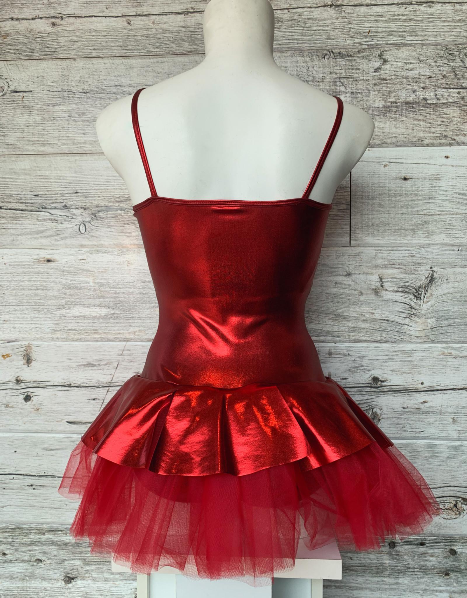 Costume Robe Rouge Métalique (M. AD)