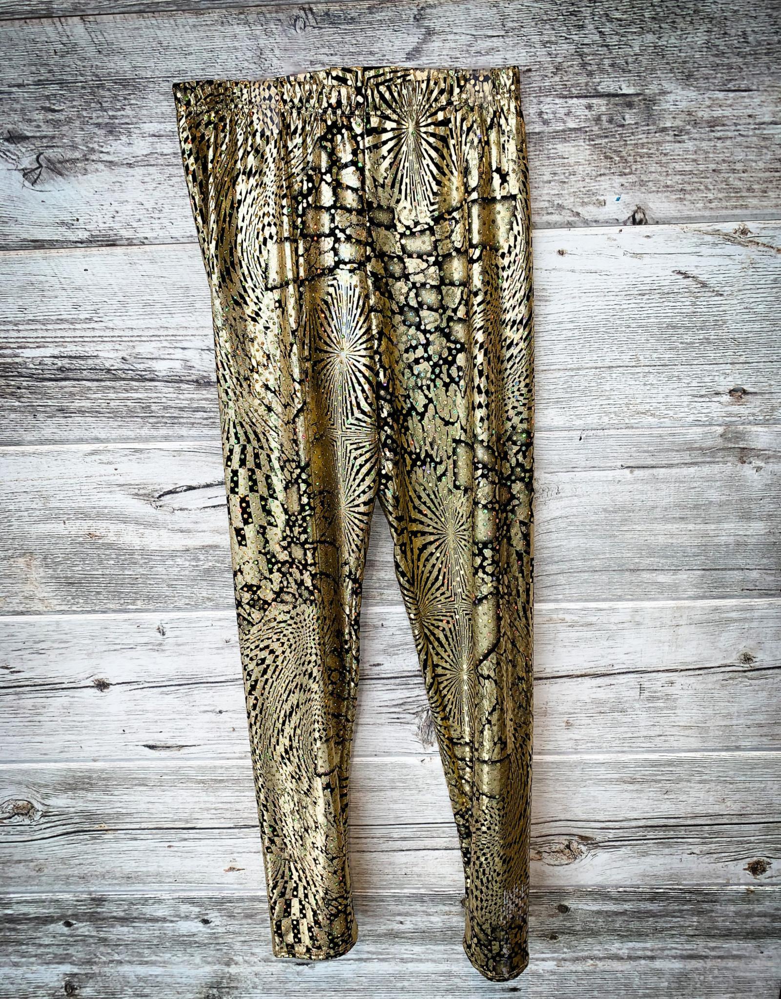 Pantalon Or Brillant (Small Adulte)