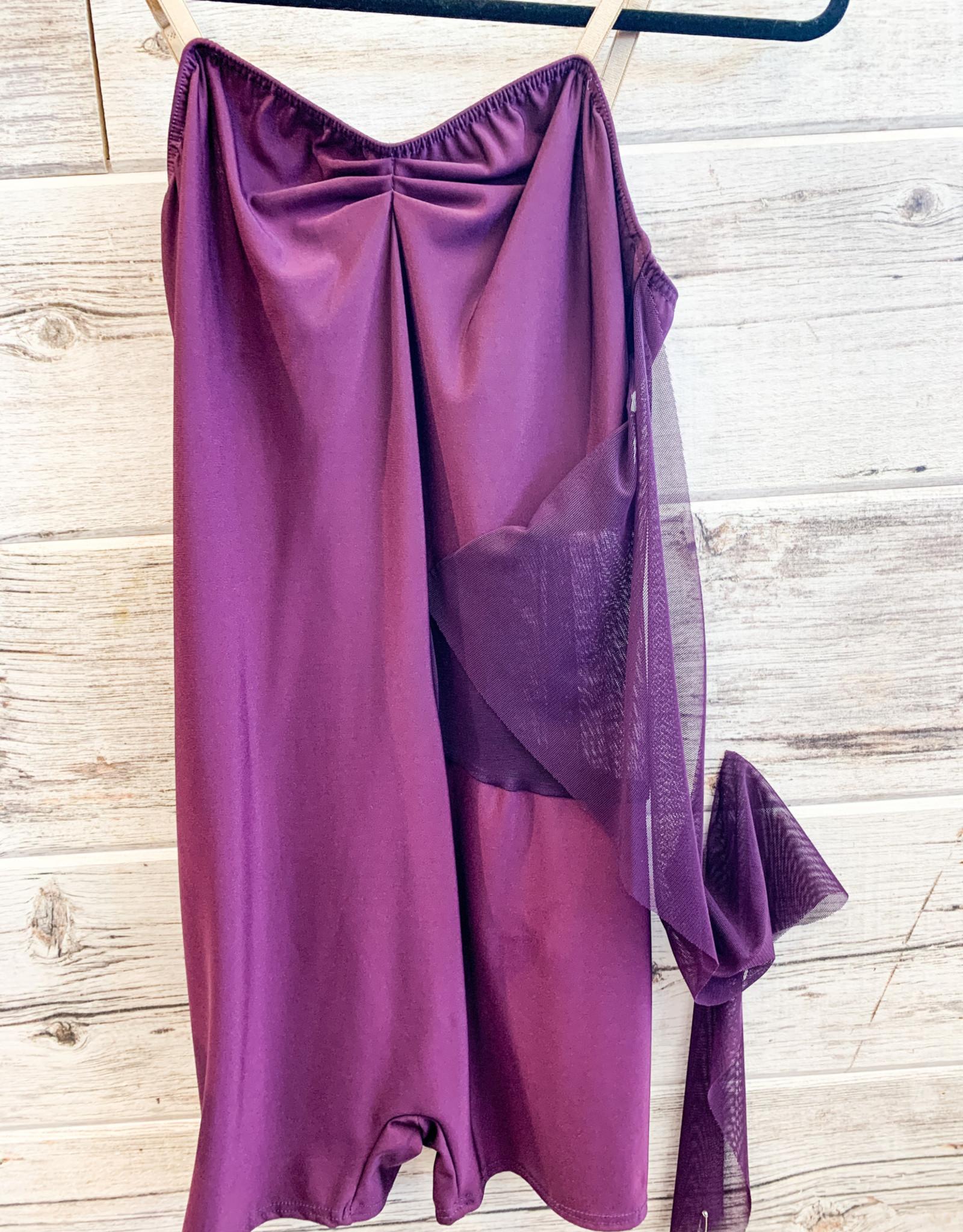 Costume Contemporain Voile Prune (Large)