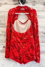 Costume Rouge Paillette Manches Longues (LC)
