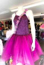 Costume Robe Mauve Avec Paillette Et Fleur (XXLarge JR)