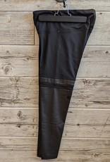 Legging avec bande faux cuir noir L