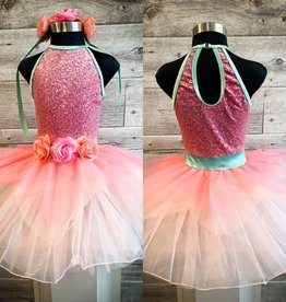 Costume rose avec paillette et tutu SC