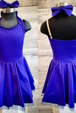 Costume robe bleu lustré avec boucle MC
