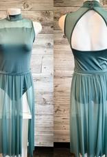Costume voile vert pâle Medium AD
