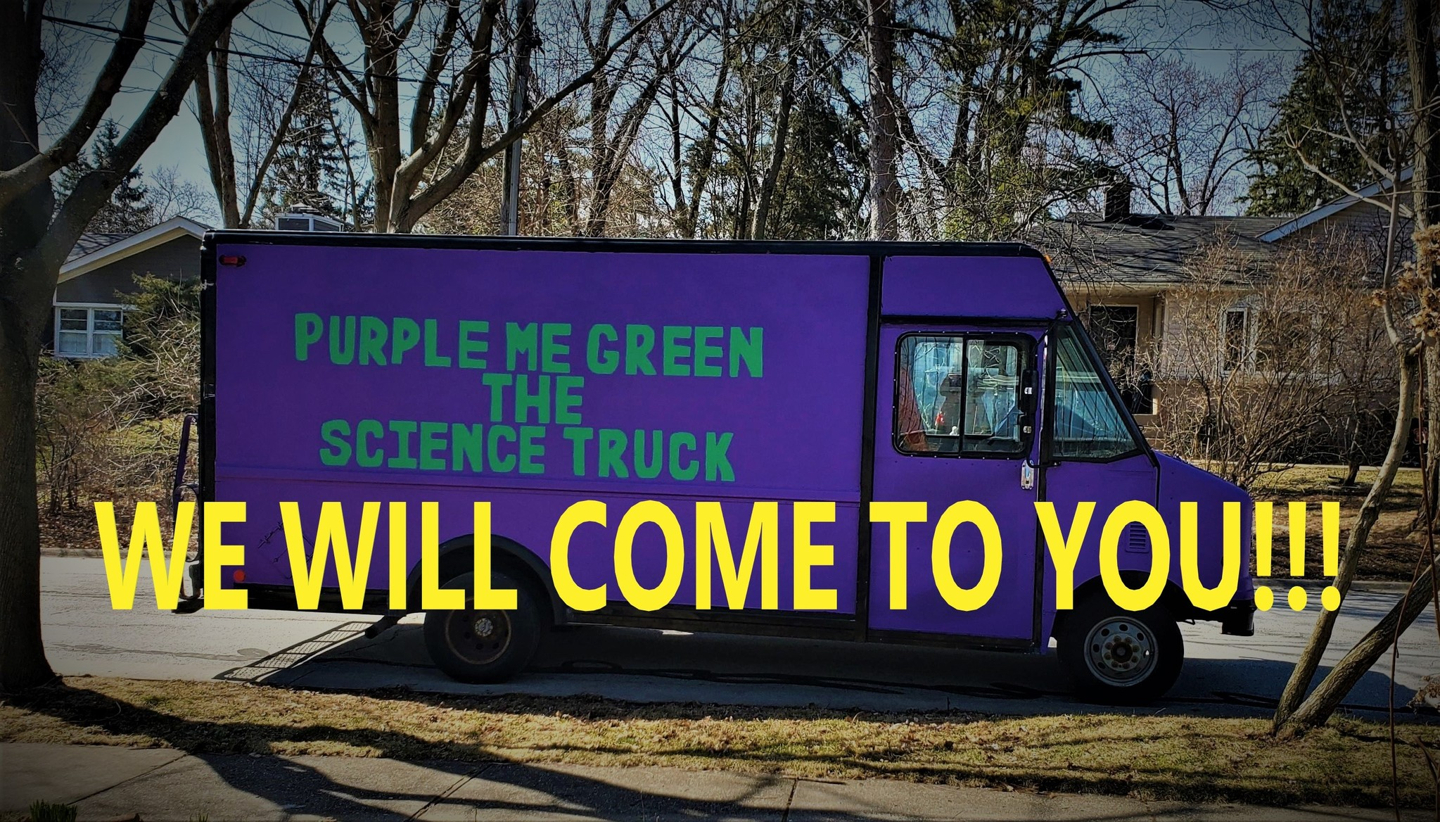 Purple Science Truck Comes to You!