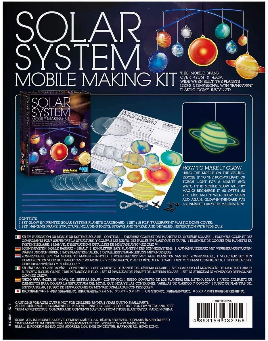 Toysmith 4M Glow-in-the-Dark Solar System Mobile Making Kit