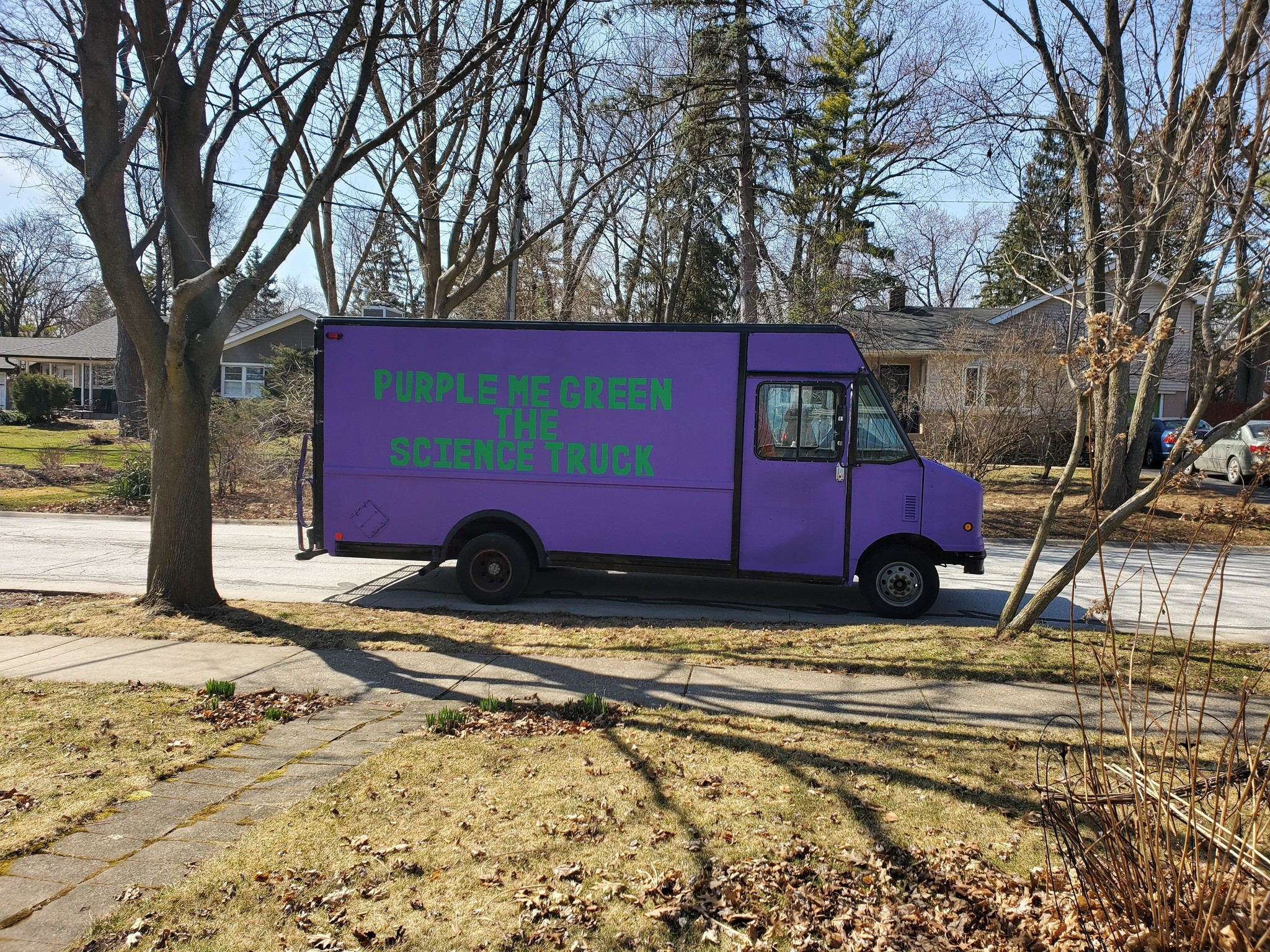 Purple Science Truck Comes to You!!