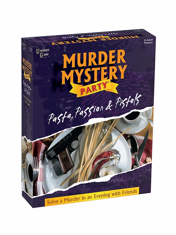 University Games Murder Mystery Pasta, Passion, Pistols