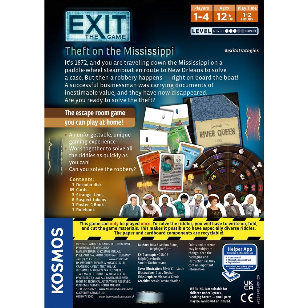 Thames and Kosmos Theft on the Mississippi Exit Game