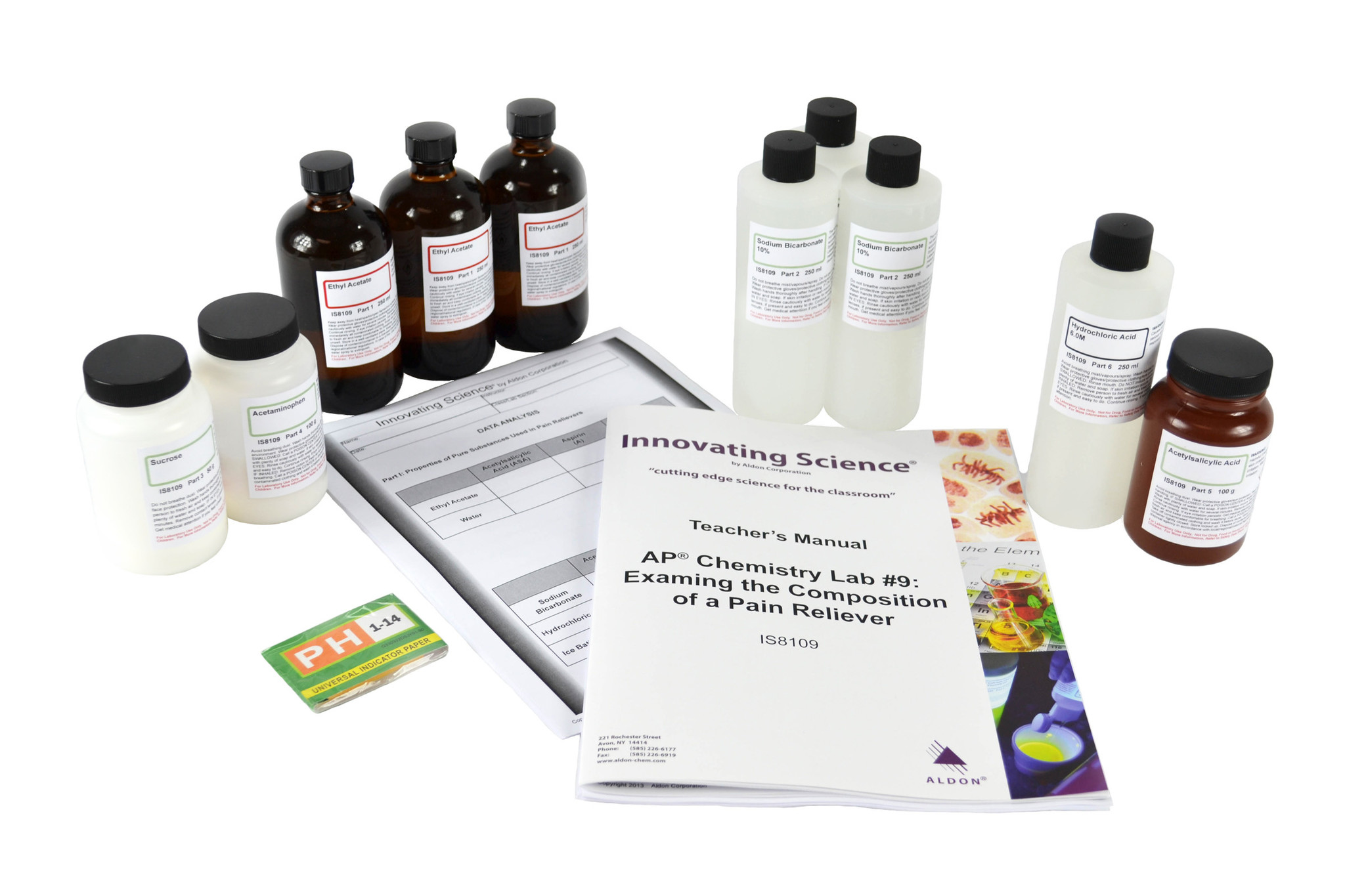 Aldon IS8109 AP® CHEMISTRY LAB #9: ANALYZING THE COMPONENTS OF PAIN RELIEVERS