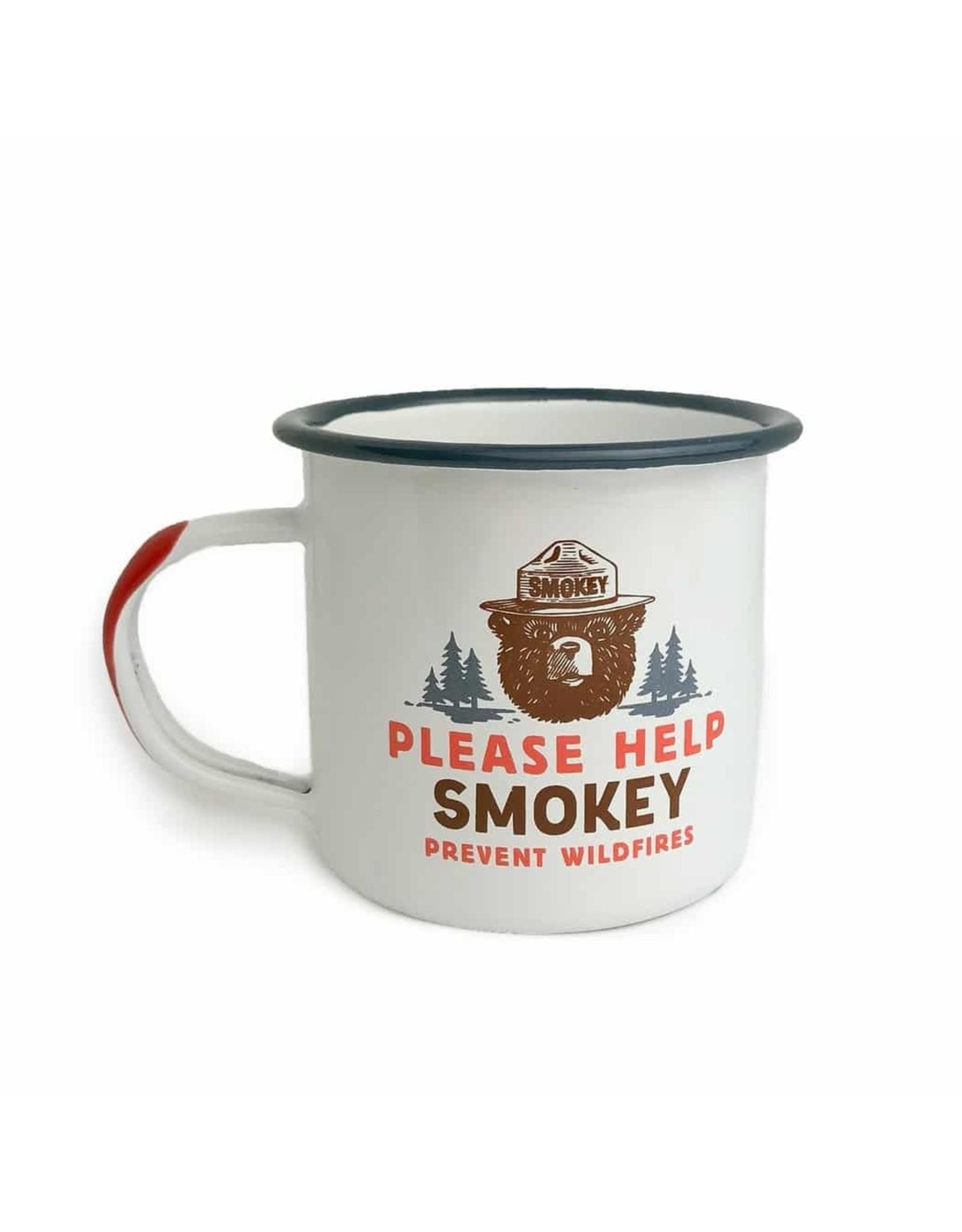 Landmark Please Help Smokey Enamel Mug (Single)