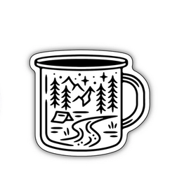 Stickers Northwest Camping Mug Scene Sticker