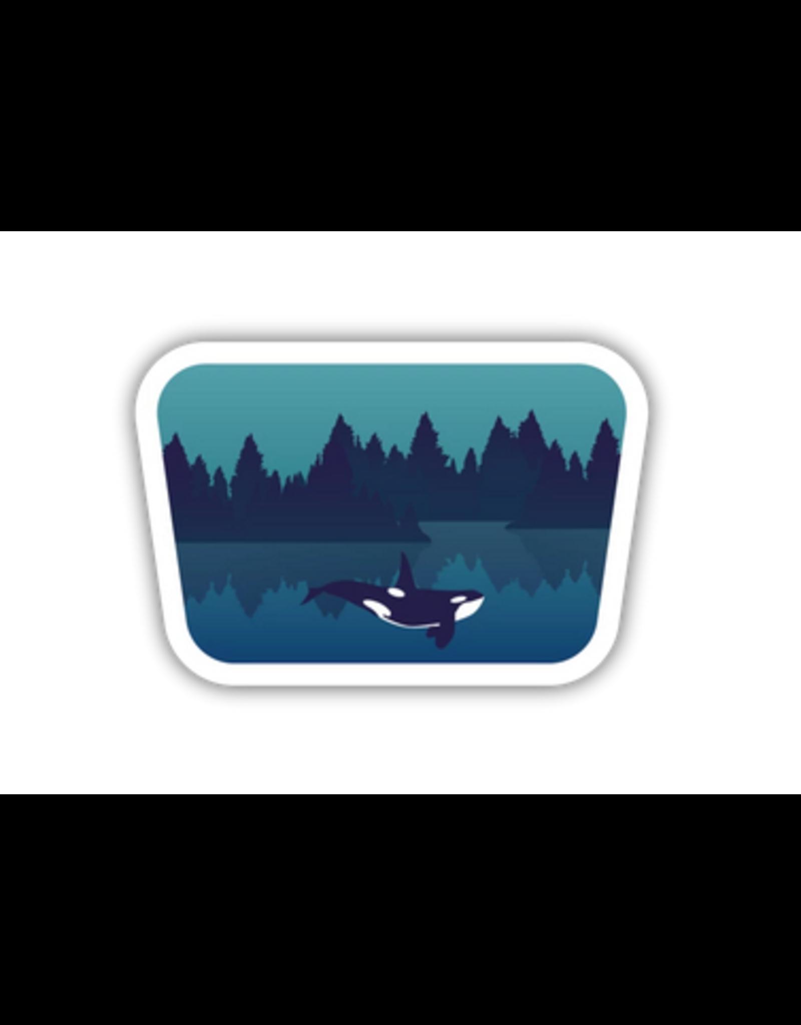 Stickers Northwest Underwater Orca