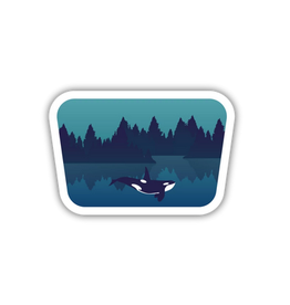 Stickers Northwest Underwater Orca Sticker