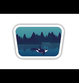 Underwater Orca Sticker
