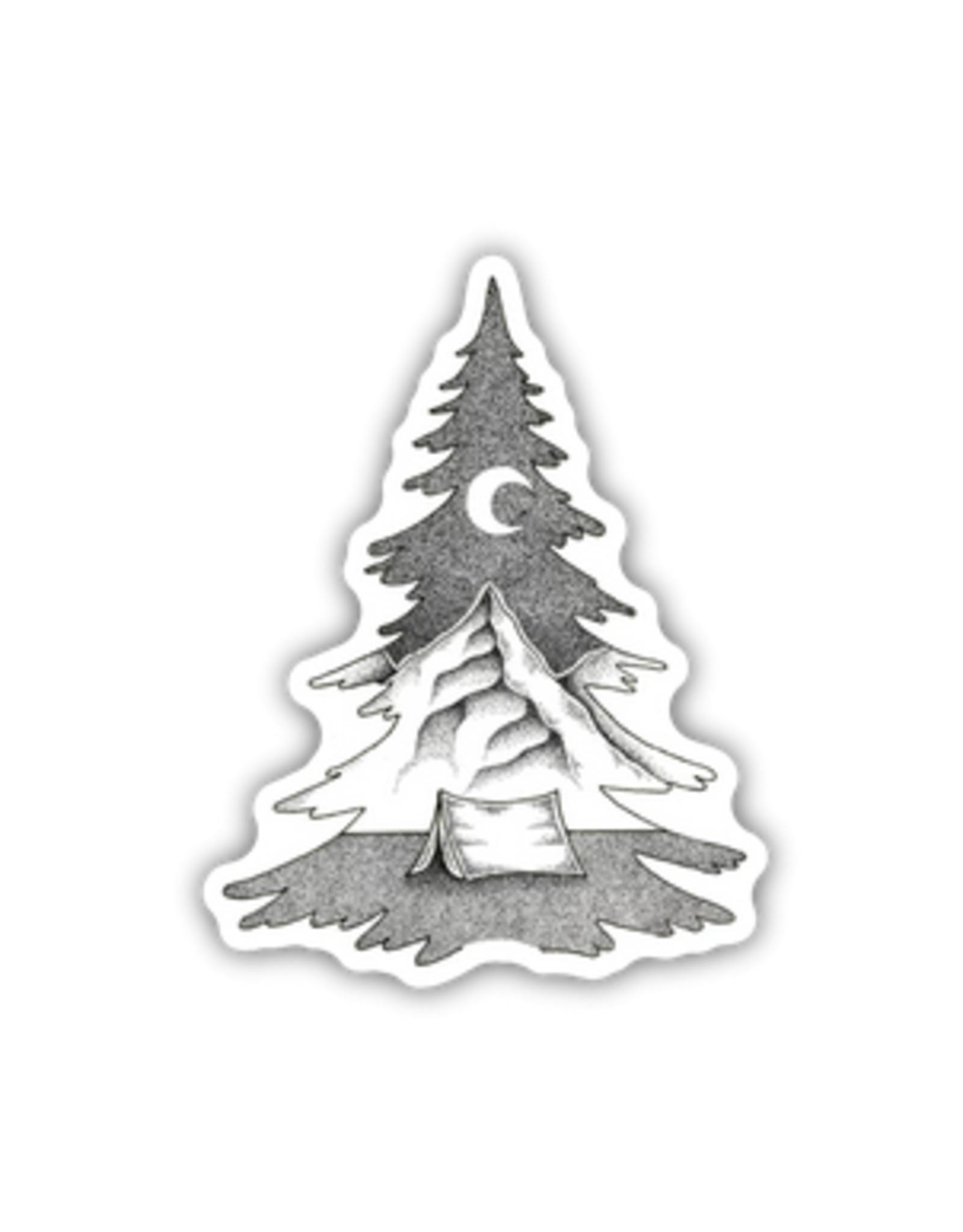 Stickers Northwest Tree Mountain Scene