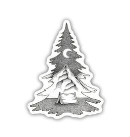 Stickers Northwest Tree Mountain Scene