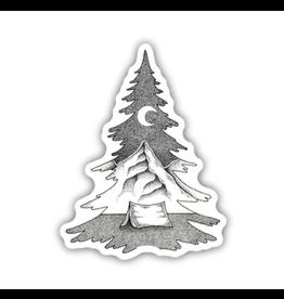 Tree Mountain Scene