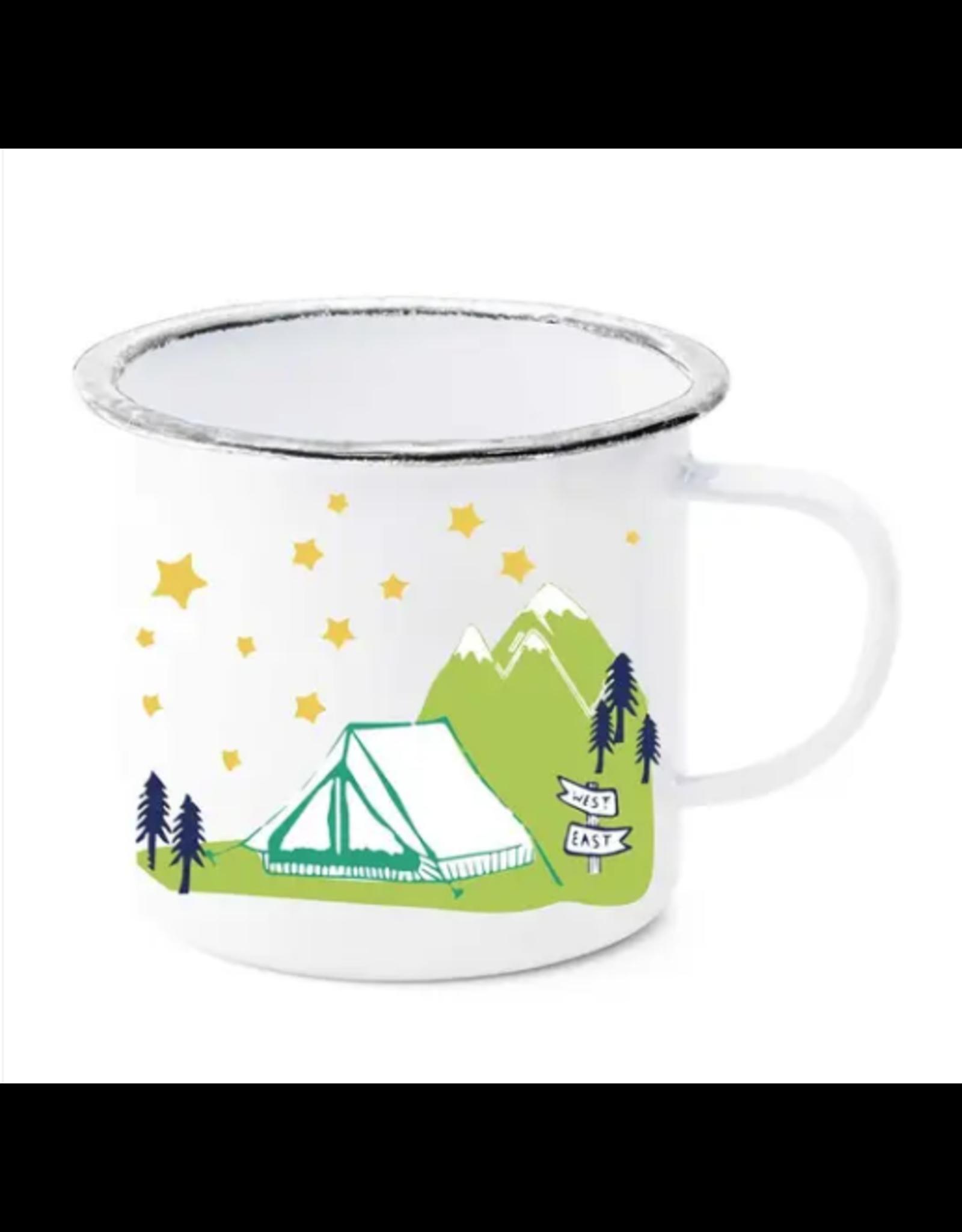 Tent Under Stars Enamel Mug